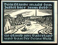 Image de Германия    Гентин  1921г.  • 25 пф. Речное судоходство •  UNC пресс