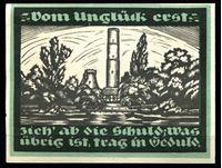 Image de Германия    Гентин  1921г.  • 1 марка. Водонапорная башня •  UNC пресс