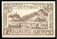Picture of Австрия    Альберндорф  1920г.  • 10 хеллеров. Мост •  UNC пресс