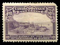 Bild von Канада 1908 г. Gb# 193 • 10 c. 300-летие Квебека. Вид старого города. • MLH OG F ( кат.- £100 )