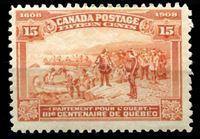 Изображение Канада 1908 г. Gb# 194 • 15 c. 300-летие Квебека. Отправление Шамплена. • MLH OG VF ( кат.- £120 )
