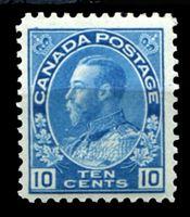 Bild von Канада 1923-31 гг.  Gb# 253  • 10 c. Георг V - Адмирал •  MLH OG XF ( кат.- £15 )