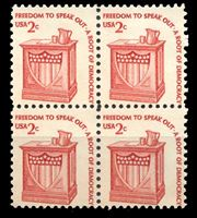 Изображение США 1975-81 гг.  SC# 1582  • 2 c. Символы Америки. Трибуна •  MNH OG XF / кв.блок