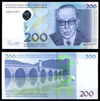 Изображение Босния и Герцеговина 2002 г. P# 71 • 200 конвертируемых марок • UNC пресс
