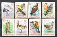 Image de Венгрия 1968 г. SC# 1889-96 • Птицы. б.з. • MNH OG XF • полн. серия
