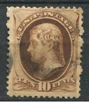 Image de США 1879г. SC# 187  • 10 c. Томас Джеферсон •  Used VF ( кат.- $45 )