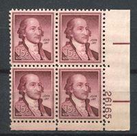 Bild von США 1954-68 гг.  SC# 1046  • 15 c. Джон Джей •  MNH OG XF+ / № кв. блок