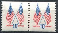 Picture of США 1973г. SC# 1519  • 10 c. Флаги США •  MNH OG XF / пара
