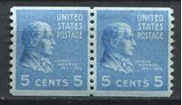 Picture of США 1939г. SC# 845  • 5 c. Джеймс Монро •  MNH OG XF / пара ( кат.- $10 )