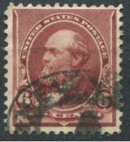 Bild von США 1890-93 гг.  SC# 224  • 6 c. Джеймс Гарфилд •  Used XF ( кат.- $25 )