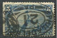"Image de США 1898г. SC# 288  • выпуск ""Транс-Миссисипи""  5 c. •  Used F ( кат.- $25 )"