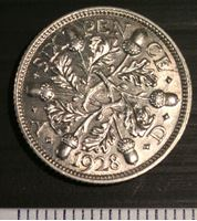 Изображение Великобритания 1928 г. • KM# 832 • 6 пенсов • чертополох • BU
