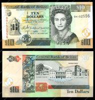 Изображение Белиз 2007г. P# 68c • 10 долларов • UNC пресс