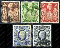 Изображение Великобритания 1939-40гг. • SC# 249-51A • Used F-VF (кат. - $40.00)