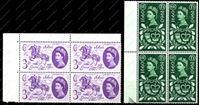Изображение Великобритания 1960г. SC# 375-6 • Юбилей Почты • MNH OG VF / кв. блоки
