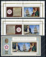 Изображение Кука о-ва 1976г. SC# 445-7 • 200 лет независимости США • MNH OG VF (кат. - $35.00)