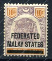 Image de Малайзия Федерация 1900г. GB# 10 • 10c. • MH OG F-VF (кат. -  £80.00)