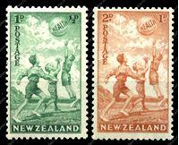 Изображение Новая Зеландия 1940г. GB# 626-7 • Здоровье • MNH OV VF (кат. - £25.00)