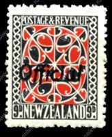 Изображение Новая Зеландия 1943г. GB# O130 • 9d. служебная • MNH OG VF (кат. - £20.00)