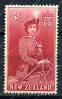 Изображение Новая Зеландия 1953-7гг. SC# 300 • 5s. Елизавета II • MH OG F-VF (кат. - $25.00)