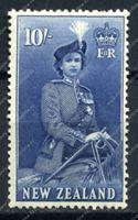 Изображение Новая Зеландия 1953-7гг. SC# 301 • 10s. Елизавета II • MH OG F-VF (кат. - $50.00)