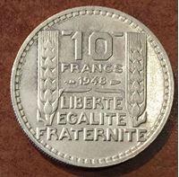 Изображение Франция 1948 г. • KM# 909.1 • 10 франков • MS BU