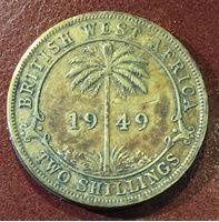 Picture of Британская Западная Африка 1949 г. H • KM# 29 • 2 шиллинга • Георг VI • VF
