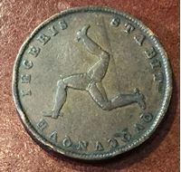 Изображение Мэн о-в 1839 г. • KM# 13 • 1./2 пенни • Королева Виктория • регулярный выпуск • F