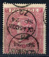 Изображение Великобритания 1867 г. Gb# 127 • 5 sh. pl. № 1 Королева Виктория • Used VF ( кат.- £600 )
