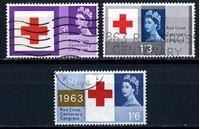 Изображение 1963 г. Gb# 642-4 • Конгресс Красного креста • Used VF • полн. серия ( кат.- £6 )