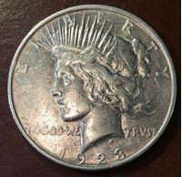 """Изображение США 1923 г. S • KM# 150 • """"мир"""" серебро • регулярный выпуск • XF+"""