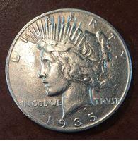 """Bild von США 1935 г. S • KM# 150 • 1 доллар • """"мир"""" (серебро) • регулярный выпуск • XF"""