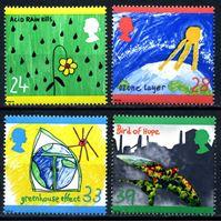 Изображение Великобритания 1992 г. SC# 1463-6 • Рисунки детей. В защиту природы • MNH OG VF • полн. серия