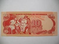 Изображение Никарагуа  1979г.  P# 134 • 10 кородоб, серия 1979-87 гг. •  UNC пресс