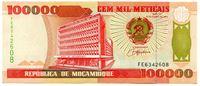 Изображение Мозамбик  1993г.  • 100 000 метикалов •  UNC пресс