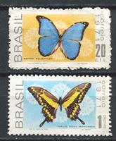 Image de Бразилия 1970г. SC# 1185-6  • Бабочки •  MNH OG VF / полн. серия ( кат.- $10 )