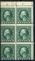 Изображение США 1926-34 гг.  SC# 632a  • 1c. из буклета •  MNH OG VF / блок 6м.