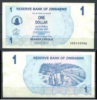 Изображение Зимбабве 2006 г. P# 37 • 1 доллар • UNC