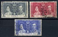 Bild von Кипр 1937г. Gb# 148-50  • Коронация Георга VI •  Used VF / полн. серия ( кат.- £6 )
