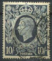 Picture of Великобритания 1939-48 гг.  Gb# 478  • 10sh. Георг VI •  Used VF ( кат.- £22 )