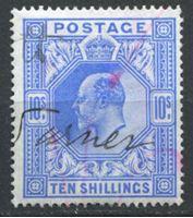 Изображение Великобритания 1902-1910 гг. • Gb# 265 • 10sh. Король Эдуард VII • Used XF ( кат.- £ 450 )