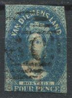 Изображение Австралия • Тасмания 1855 г. Gb# 17 • 4d. Королева Виктория б.з. • Used VF ( кат.- £100 )