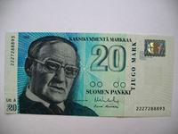 Picture of Финляндия  1993г.  P# 122 • 20 марок •  серия - 2227288893 /  UNC пресс