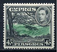 Image de Кипр 1938-51 гг. Gb# 161 • 45 pi. Основной выпуск. Георг VI • MLH OG XF ( кат.- £50 )