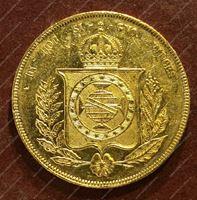 Image de Бразилия 1856г. KM# 468 • 20 тыс. рейс • золото 917 - 17.93 гр. • AU+