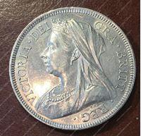 Изображение Великобритания 1893г. KM# 782 • пол кроны / серебро • MS BU GEM!!