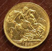 Изображение Великобритания 1898г. KM# 785 • соверен / золото 917 - 7.99 гр. • BU