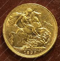 Изображение Великобритания 1899г. KM# 785 • соверен / золото 917 - 7.99 гр. • BU