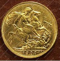 Изображение Великобритания 1900г. KM# 785 • соверен / золото 917 - 7.99 гр. • BU-