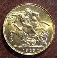 Image de Великобритания 1925г. KM# 820 • соверен • золото 917 - 7.99 гр. • MS BU GEM!!